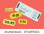 price tag and ticket... | Shutterstock .eps vector #371695321