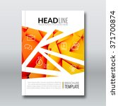 cover report colorful orange...   Shutterstock .eps vector #371700874