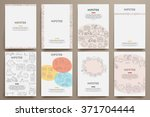 corporate identity vector... | Shutterstock .eps vector #371704444