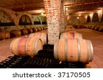 whine barrels in a cellar | Shutterstock . vector #37170505