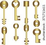 Keys Icons Set  Isolated. Keys...