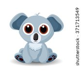 sitting cute little koala bear... | Shutterstock .eps vector #371713549