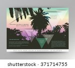 palm tree poster and print  ... | Shutterstock .eps vector #371714755