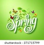 spring word typography concept... | Shutterstock .eps vector #371715799