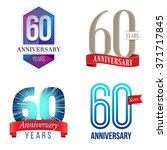 60 years anniversary logo | Shutterstock .eps vector #371717845