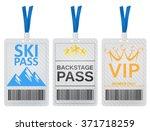 pass cards | Shutterstock .eps vector #371718259