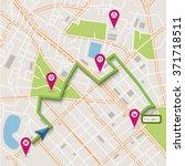 vector flat abstract city map... | Shutterstock .eps vector #371718511