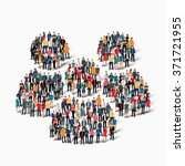 large group of people in the... | Shutterstock .eps vector #371721955