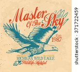 vintage eagle graphic. original ... | Shutterstock .eps vector #371722459
