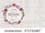 lavender circle wreath  | Shutterstock .eps vector #371722687