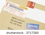closeup of registered mail | Shutterstock . vector #3717283
