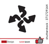 arrow icon set | Shutterstock .eps vector #371729164