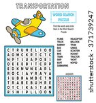 word search transportation.... | Shutterstock .eps vector #371739247