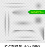 transparent shadow effect. set... | Shutterstock .eps vector #371740801
