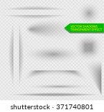 transparent shadow effect. set...   Shutterstock .eps vector #371740801