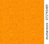 thin line happy easter orange... | Shutterstock .eps vector #371741485