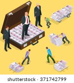debts on loans. people gives... | Shutterstock .eps vector #371742799