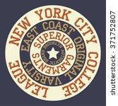 new york brooklyn typography  t ...   Shutterstock .eps vector #371752807