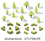 vector isometric trees elements ... | Shutterstock .eps vector #371758159