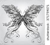 butterfly in an ornament | Shutterstock .eps vector #371759071