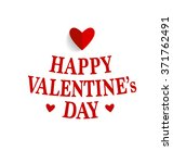 happy valentine's day card with ... | Shutterstock .eps vector #371762491