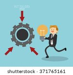 businesspeople icon design  | Shutterstock .eps vector #371765161
