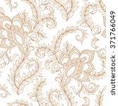henna mehndi tattoo doodles... | Shutterstock . vector #371766049