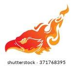 head of a phoenix in flames...   Shutterstock .eps vector #371768395