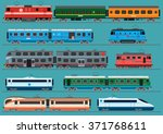 collection of modern railway... | Shutterstock .eps vector #371768611