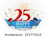 anniversary celebration... | Shutterstock .eps vector #371772415