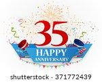 anniversary celebration... | Shutterstock .eps vector #371772439