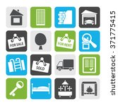 flat real estate icons   vector ... | Shutterstock .eps vector #371775415