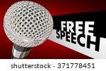 Free Speech Words Beside A 3d...