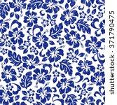 hibiscus flower pattern | Shutterstock .eps vector #371790475