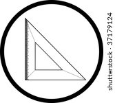 vector icon of triangle ruler | Shutterstock .eps vector #37179124