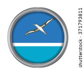 3d button flag of midway atoll. ... | Shutterstock .eps vector #371793811
