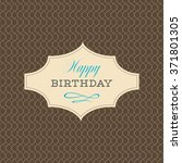 happy birthday text card label... | Shutterstock .eps vector #371801305