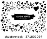 ink hearts for valentines... | Shutterstock .eps vector #371803039