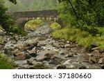 stone bridge over caerfanell...