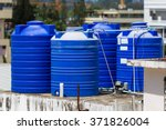 Blue Water Tanks Of Industrial...
