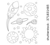 coloring book outlined outer... | Shutterstock .eps vector #371831485