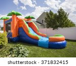 inflatable bounce house water... | Shutterstock . vector #371832415