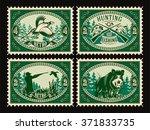 set vector template of stamps... | Shutterstock .eps vector #371833735