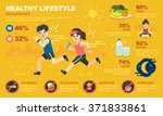 healthy life style infographic | Shutterstock .eps vector #371833861