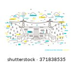 linear hydro electric station ... | Shutterstock .eps vector #371838535