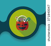 halloween candy flat icon with... | Shutterstock .eps vector #371840047