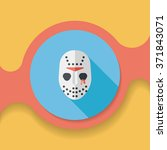 halloween mask flat icon with... | Shutterstock .eps vector #371843071
