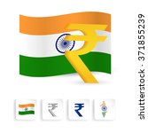 indian rupee sign symbol with... | Shutterstock .eps vector #371855239