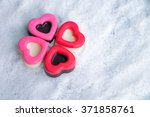 Chocolate Heart On The Snow...