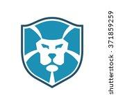 lion shield emblem | Shutterstock .eps vector #371859259